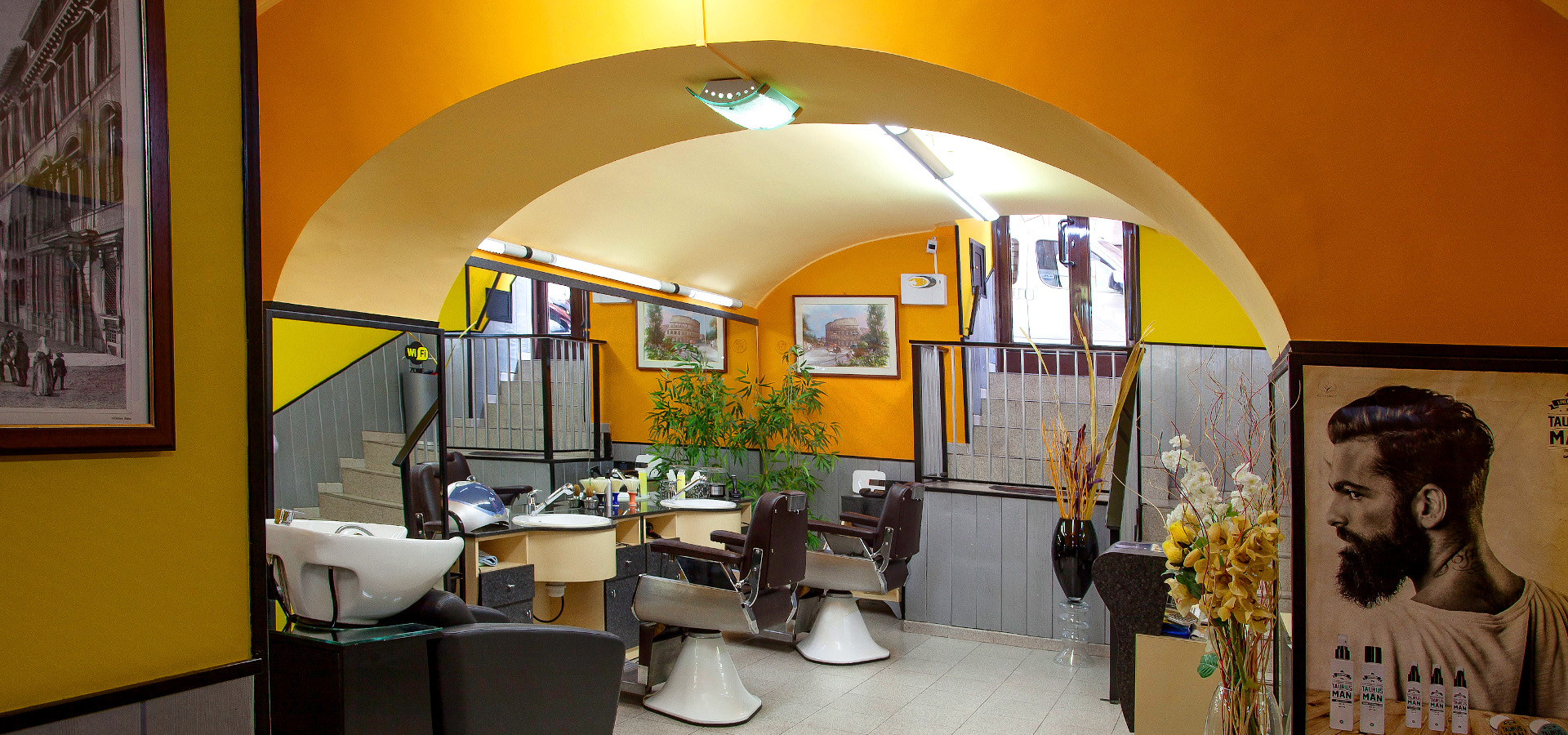 Il salone Barber Shop e parrucchiere di Luca Conti